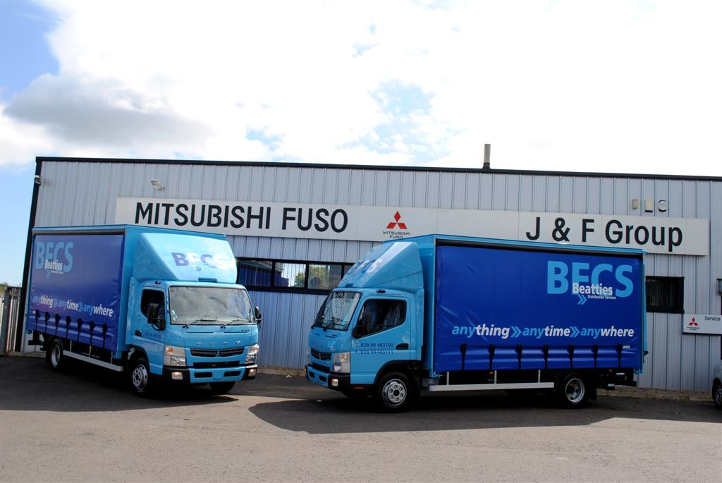 3 x new mitsubishi fuso 7 5 ton 7c15 duonic supplied to beatties freight. Black Bedroom Furniture Sets. Home Design Ideas
